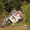 Назападе Боливии 9 человек погибли при падении автобуса вущелье