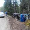 Автобус сукраинскими моряками перевернулся под Псковом: есть пострадавшие