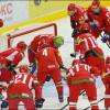 Сборная Беларуси встречается вматче сословаками— Хоккей