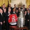 Хоккеисты «Чикаго» встретились сОбамой вБелом доме