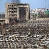 Пожарные взяли под контроль огонь наместе взрыва в КНР