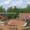 Новейшую детскую площадку начали монтировать впарке Горького в российской столице