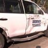 ВЛуганске троллейбус врезался вмашину миссии ОБСЕ