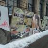 Вандалы повредили выставку «Украинская революция» вцентре столицы