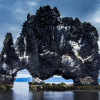 Мистическая базальтовая скала Хвитцеркур в Исландии