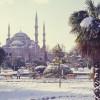 Сильный гололед и мокрый снег ожидается в Стамбуле