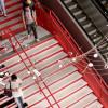 Музыкальная лестница-пианино на ж/д вокзале Сан-Паулу в Бразилии
