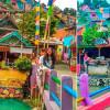 В Индонезии «Деревня-радуга» манит рекордное количество туристов