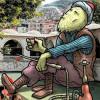 Гигантские иллюстрации Хакан Келеш привлекают туристов на нетронутые и отдаленные улочки Турции