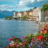 Озеро Комо в Италии известный фаворит для путешественников со всего мира
