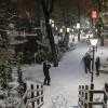 Первый снегопад падает в Анкаре, северная Турция