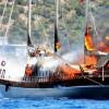 Турция: Пожар в море уничтожил одну из самых дорогих яхт в мире