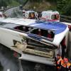 В Турции произошла авария автобуса из-за водителя, уснувшего за рулём