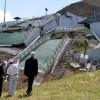 Оползень в Эрзуруме разрушил трамплины для прыжков на лыжах