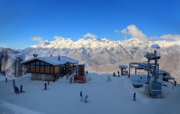одна из лыжных трасс в районе Сочи