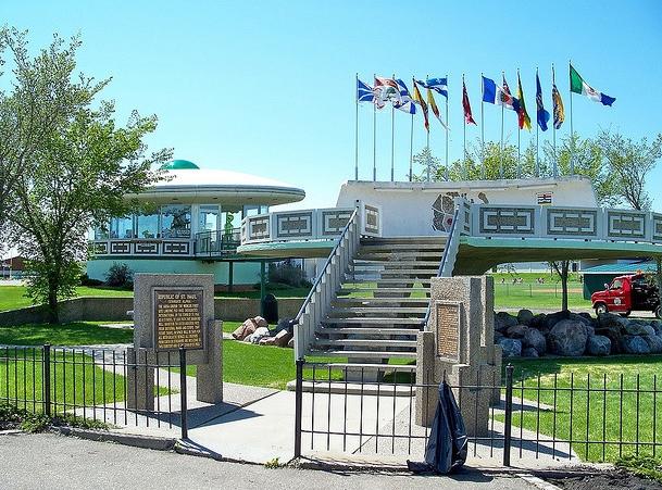 площадка для посадки НЛО в городе Сент-Поул
