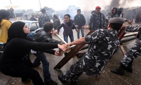 уличные беспорядки в Ливане