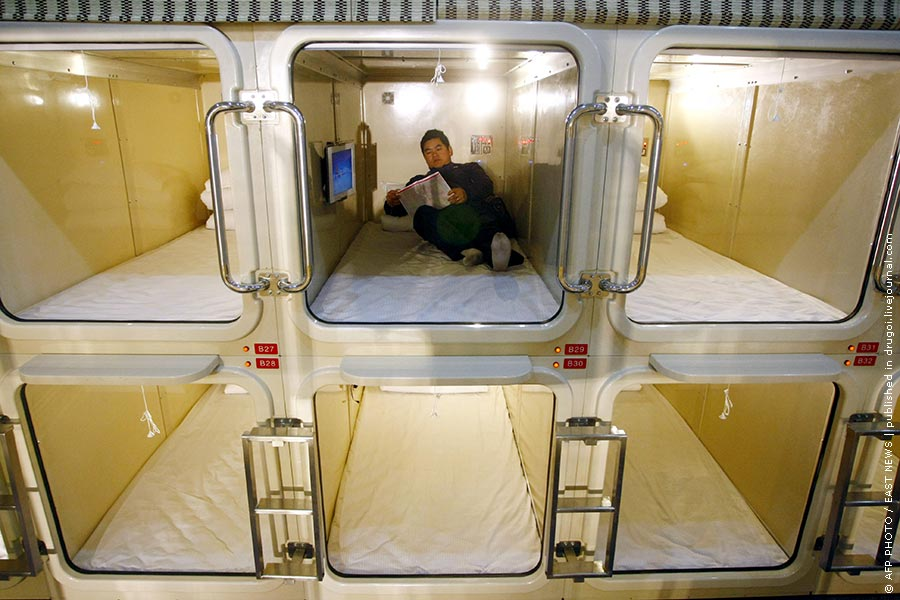 капсульный отель в японии фото