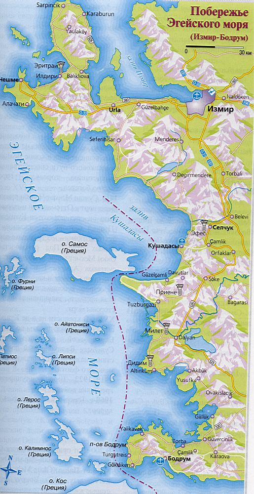 берег Эгейского моря Турция