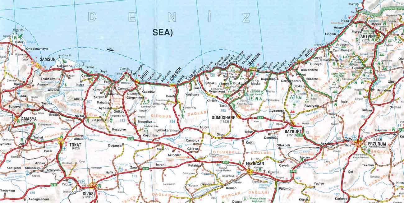 побережье Черного моря Турция