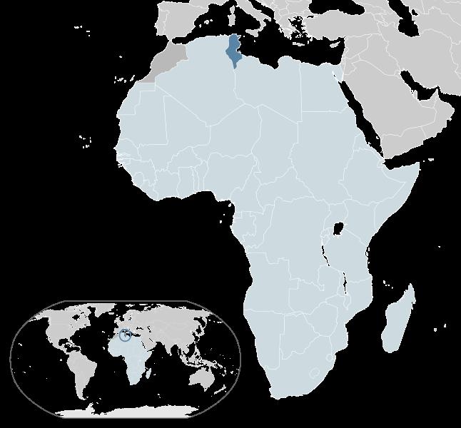 геграфическое расположение туниса