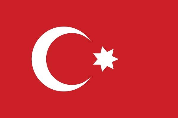 флаг османской империи с семиконечной звездой