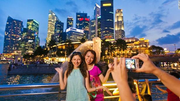 вечерний сингапур прекрасен