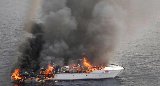В Турции сгорела яхта россиянина за 6 млн долларов