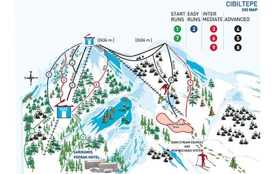 Сарыкамыш - горнолыжный курорт Турции, где сезон длится с конца октября до середины апреля