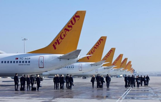 Общее количество пассажиров турецкой авиакомпании Pegasus Airl
