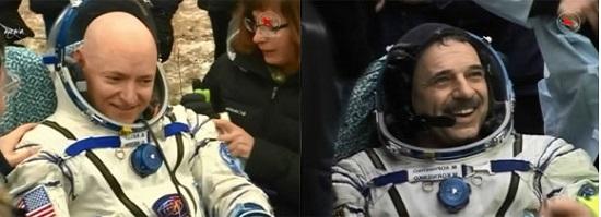 Астронавты вернулись, спустя год работы на космической станции