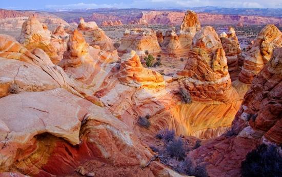 Склон Койот Бют в Аризоне - чудо созданное природой