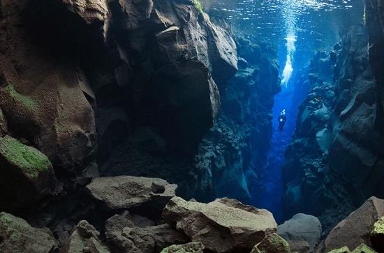 Силфра – прекрасное место, что разъединяет два континента, Исландия