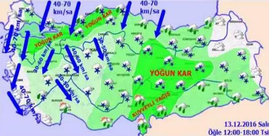 Ураганы с севера принесут в Турцию резкое похолодание