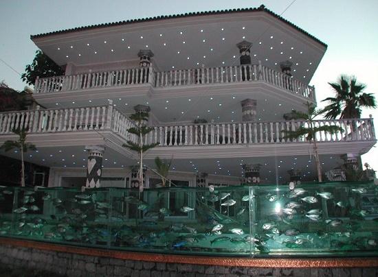 Интересное и оригинальное сооружение в мире - Забор-аквариум в Чемше