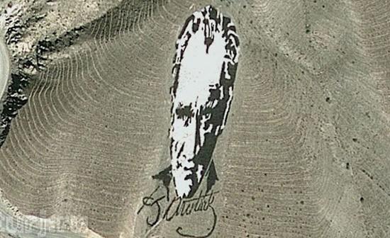 Портрет Мустафы Ататюрка - автограф для космонавтов