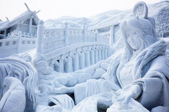 Самый масштабный на планете фестиваль снега откроется в Японии 1 февраля