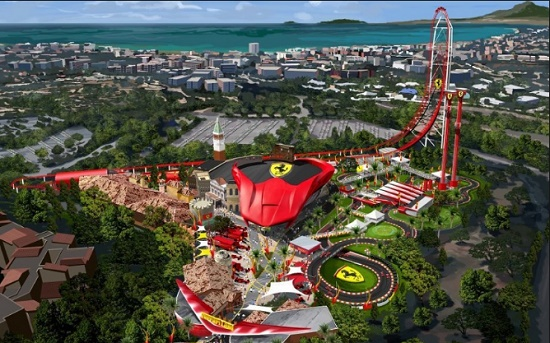 Парк Ferrari Land начнет продажу билетов на свои аттракционы