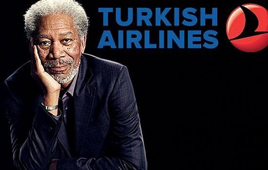 Актер Голливуда Морган Фримен становится новым лицом Turkish Airlines