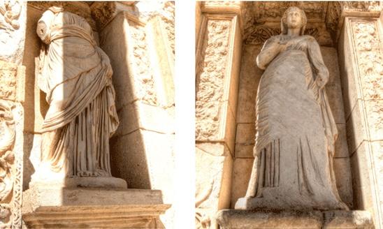 Величественная архитектура библиотеки Цельса в Эфесе