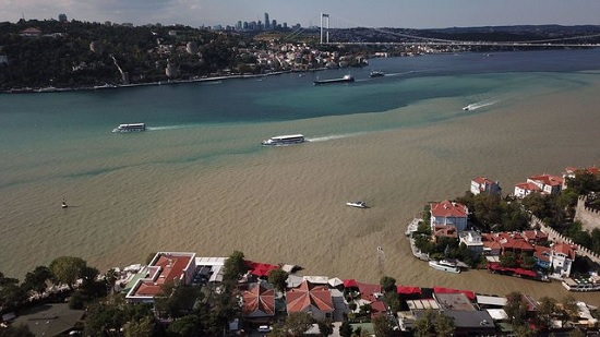 Турецкие журналисты зафиксировали на снимках коричневый Босфор и красное море в Измире