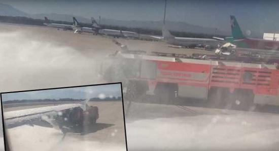 В аэропорту Антальи пожарные спасли десятки жизней украинских туристов