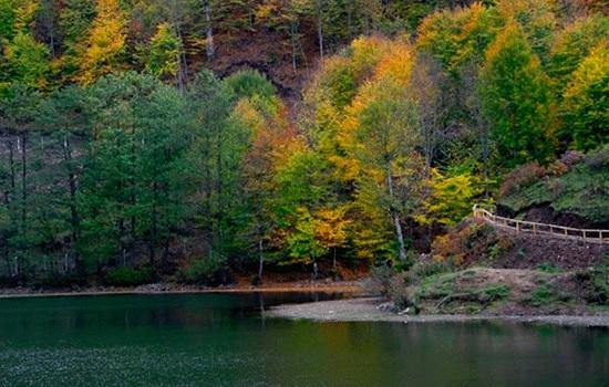 Великолепные цвета осени на озере Улугёл