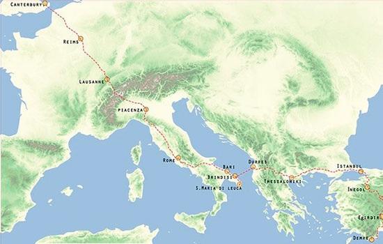 Создана первая карта пешеходного маршрута от Европы до Турции