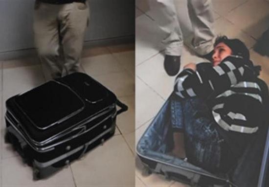 Очередной иностранец пыталась пройти пограничный пункт Турции в чемодане