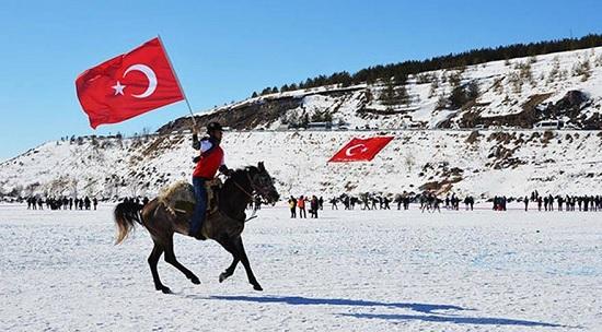 Торжество прямо посреди замерзшего озера на северо-востоке Турции