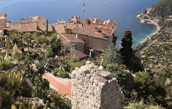 Эз — средневековый город с видом на Лазурный берег