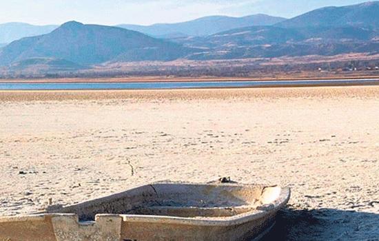 Снижение уровня воды в озере Бурдур превзошло критический уровень