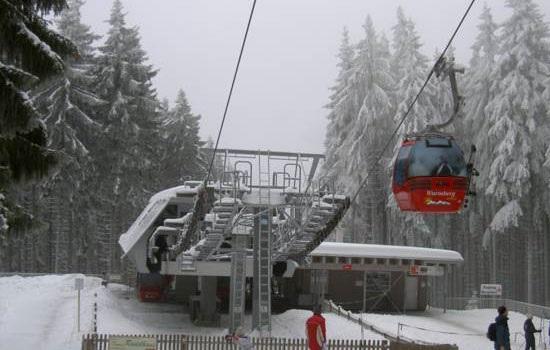 Катание на лыжах в горах Гарц, Германия