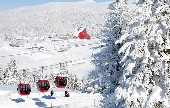 На горе Улудаг наступает время зимних праздников